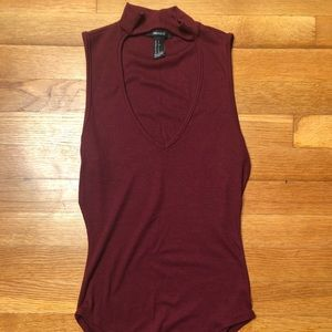 Forever 21 Ribbed Cutout Bodysuit
